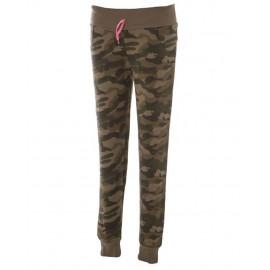 Pantalone Tuta Donna Camouflage 100% Cotone Garzato Prelavato PS 28455