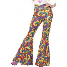 Pantaloni A Zampa D' Elefante Costume Carnevale Hippie PS 08044 Figli dei Fiori Pelusciamo Store Marchirolo