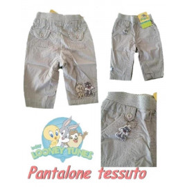 Pantaloni neonato tela grey bimbo baby Looney Tunes * 13802