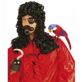 Accessorio Costume Carnevale Parrucca uomo capitano con baffi e pizzo *20011