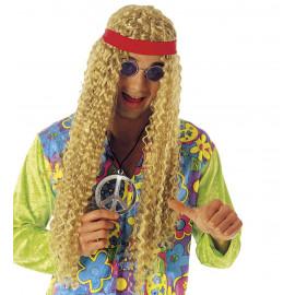 Parrucca unisex hippie con fascia Accessori Costume Carnevale *20067 pelusciamo store