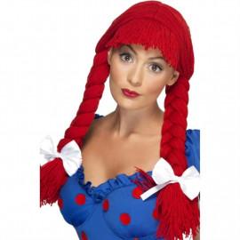 Parrucca Donna Bambola Di Pezza Trecce   *24863 Accessorio Carnevale | Pelusciamo.com