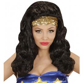 Parrucca Donna Supereroe Accessorio Carnevale  | Pelsuciamo.com