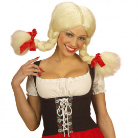 Parrucca Donna Heidi Con Treccione PS 08602 Accessorio Carnevale