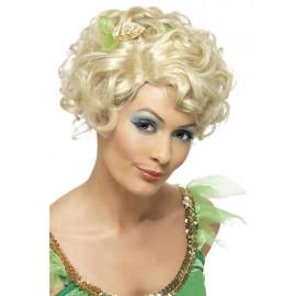 Parrucca Fata Bionda Corta E Ondulata Con Fiore PS 08092 Parrucche Da Donna Carnevale Pelusciamo Store Marchirolo