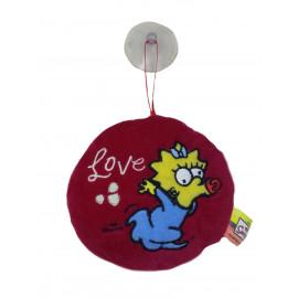 Peluche cuscino The Simpson - Love Meggie rotondo rosso | Pelusciamo.com