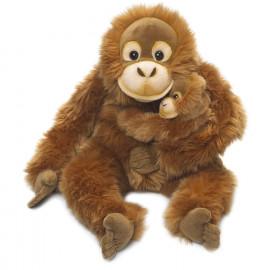 Peluche Orangutan Con Cucciolo Seduto 25 Cm Peluches WWF PS 09758 Pelusciamo Store Marchirolo
