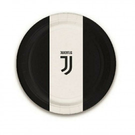 Piatti Carta Juventus JJ  23 cm, Arredo Festa Juve Calcio  | pelusciamo.com