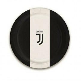 Piatti Carta Juventus JJ  18 cm, Arredo Festa Juve Calci | pelusciamo.com