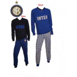 Pigiama adulto Inter calcio maglia e pantaloni lunghi cotone jersey *22697