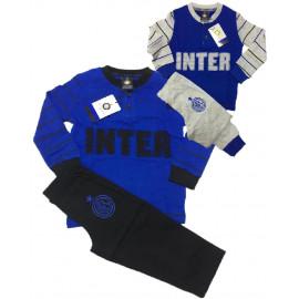 Pigiama lungo Bimbo Fc Internazionale maglia e pantaloni lunghi PS 21146