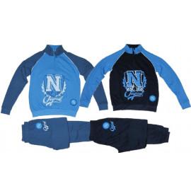 Pigiama Felpato Napoli Calcio Abbigliamento Ufficiale Ragazzo PS 07955