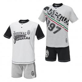 Pigiama Juve maglia e pantaloncini Abbigliamento Juventus 24986 pelusciamo store