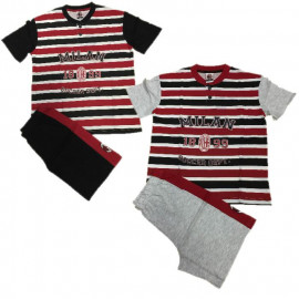 Pigiama Uomo Milan maglia maniche corte e Pantaloncini Ufficiali *03491