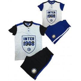 Pigiama corto uomo Inter Abbigliamento F.C.Internazionale 24964 pelusciamo