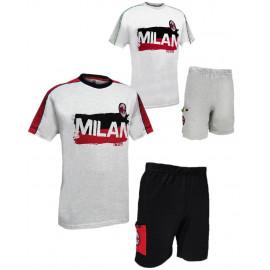 Pigiama uomo manica corta ACM Milan abbigliamento ufficiale Milanisti *23567 pelusciamo.com