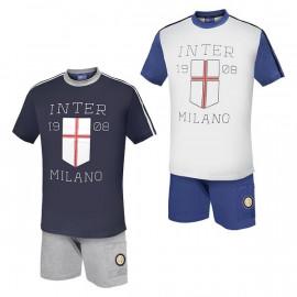 Pigiama completo Inter maglietta e pantaloncini ufficiale F.C.Internazionale  *20891