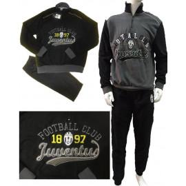 Pigiama Juve uomo in pile Abbigliamento Ufficiale Juventus N04746