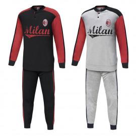 Pigiama uomo serafino Abbigliamento Ufficiale AC Milan *21512