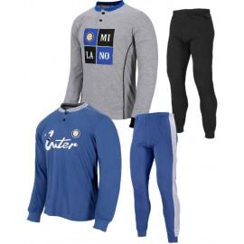 Pigiama Lungo Bimbo Inter Abbigliamento Calcio FC Internazionale PS 26880 Pelusciamo Store Marchirolo