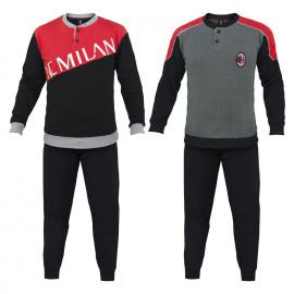 Pigiama Milan Abbigliamento Ufficiale AC Milan PS 25650 Pigiami Calcio Ragazzo Pelusciamo Store Marchirolo