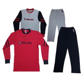 Pigiama Milan Ragazzo Abbigliamento Ufficiale AC Milan PS 12105 Pelusciamo Store Marchirolo