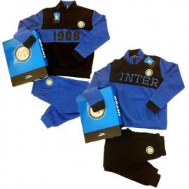 Pigiama Inter Calcio Abbigliamento Ufficiale FC Internazionale PS 08490 Caldo Pile
