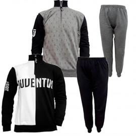 Pigiama Ragazzo Juve Felpato Abbigliamento Ufficiale Juventus PS 25717 Pelusciamo Store Marchirolo