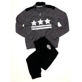 Pigiama uomo Juve in pile Abbigliamento Ufficiale Juventus 24777 pelusciamo store