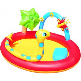 Piscina gonfiabile da esterno con giochi per bambini 193x150x89 cm | pelusciamo.com