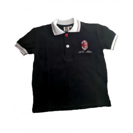 Polo Bimbo Bambino Ac Milan maniche corte abbigliamento squadre calcio | pelusciamo store
