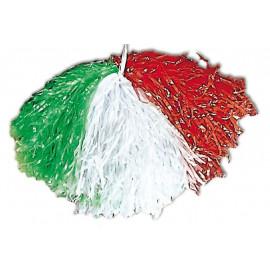 Pom Pom tricolore bianco rosso verde tifosi Italia *02147 Pelusciamo.com