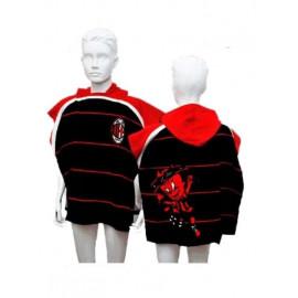 Poncho Spugna Bambino Milan con cappuccio accessori squadre calcio PS 10491