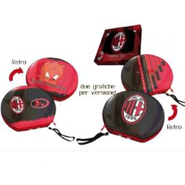 Porta cd in latta con cerniera A.C. Milan tifosi calcio  *03259