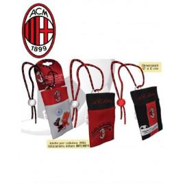 1 Portacellulare porta ipod Ac. Milan calcio 12x6 cm accessori squadre *03481