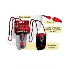 Portacellulare porta ipod Ac Milan calcio 12x6 cm accessori squadre *05941