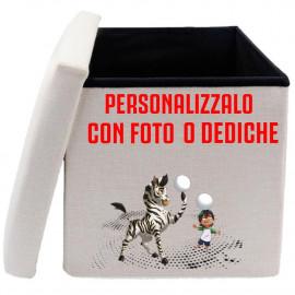 Pouf Portagiochi Personalizzabile Foto o Frasi PS 09387 Gadget Personalizzato Pelusciamo Store Marchirolo