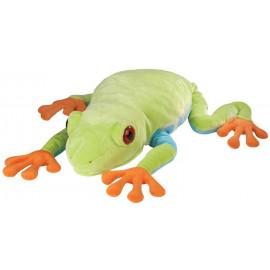 Peluche rana gigante con occhi rossi