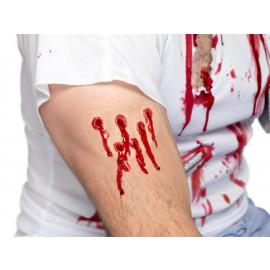 Make Up Trucco per Halloween Carnevale Ferita taglio sanguinante smiffys *11882