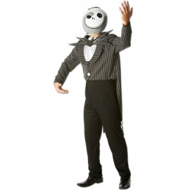 Costume Halloween Carnevale uomo Jack Nightmare Before Christmas