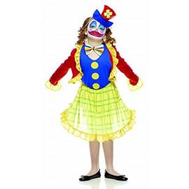 Costume Carnevale bambina clown fiorella *05277 pagliaccio pelusciamo store