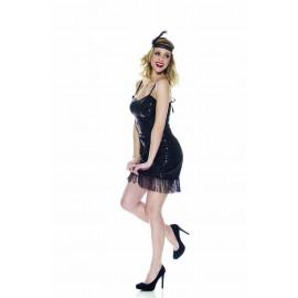 Costume Carnevale donna Charleston flapper Abito da Ballo jazz 05279 pelusciamo