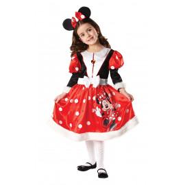 Costume Carnevale Bambina Minnie Winter Disney 05207 pelusciamo store
