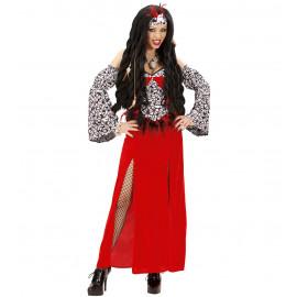 Costume Halloween Donna Sacerdotessa Woodoo *24567 Vestito | pelusciamo.com