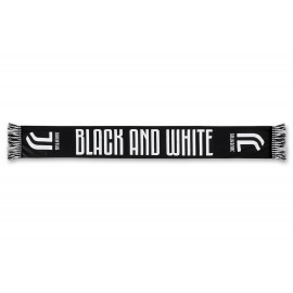 Sciarpa Stadio Juventus Back And White, Poliestere  PS 05780