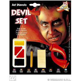 Set Trucco con Accessori da Diavolo  *24590 Halloween, Carnevale   pelusciamo.com