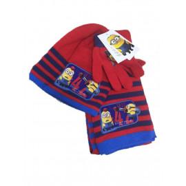 Set invernale sciarpa cappello guanti Minions cattivissimo me *00935