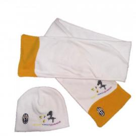 Cappellino neonato e sciarpa Juventus in ciniglia ufficiale Juve | pelusciamo.com