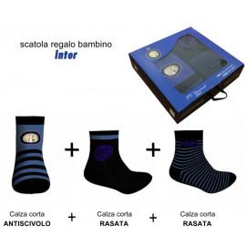 Set regalo Inter 3 paia di calze abbigliamento tifosi interisti *22130
