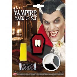 Set Adulto Dracula Denti e Trucco , Make Up Halloween | pelusciamo.com